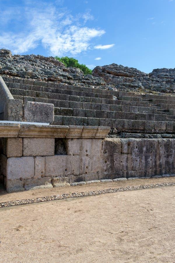 Römisches Kolosseum in Mérida (Spanien lizenzfreies stockfoto