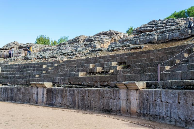 Römisches Kolosseum in Mérida (Spanien stockfotografie