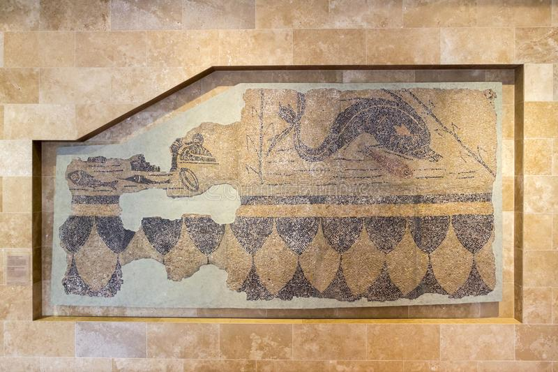 Römisches Mosaik in Aquincum lizenzfreie stockfotos