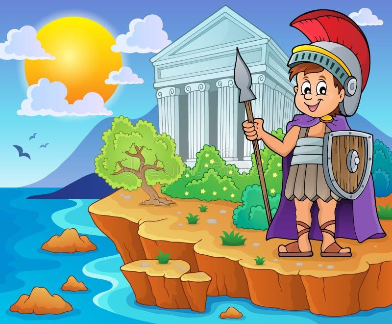 Römisches Soldatthemabild 2 lizenzfreie abbildung