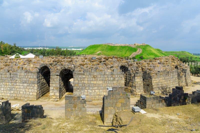 Römisches Theater in der alten Stadt von Bet Shean lizenzfreies stockfoto