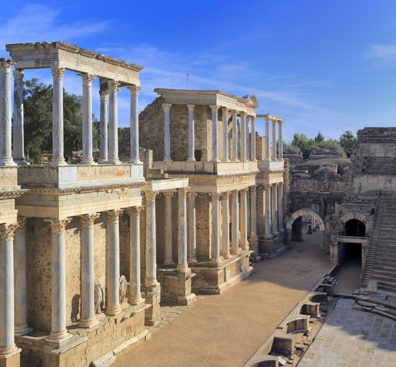 Römisches Theater, Mérida, Extremadura, Spanien lizenzfreie stockbilder