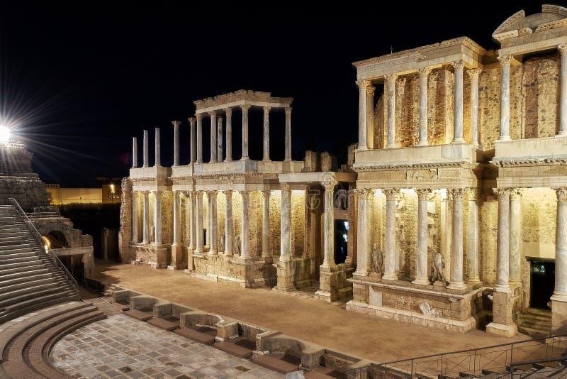 Römisches Theater Mérida stockbild