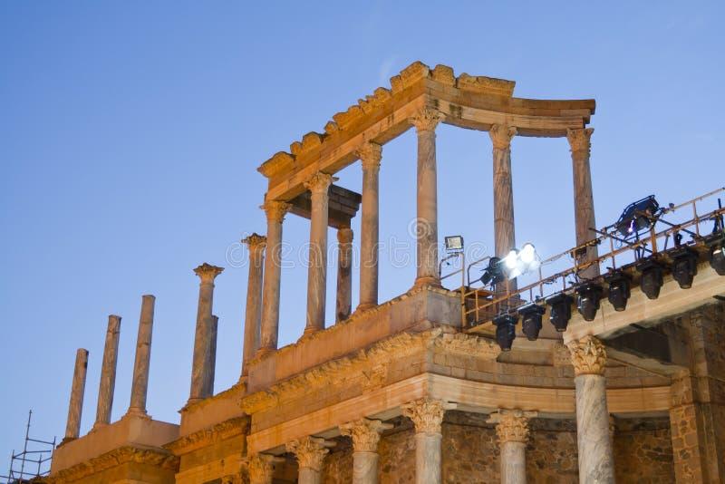 Römisches Theater Méridas lizenzfreies stockbild