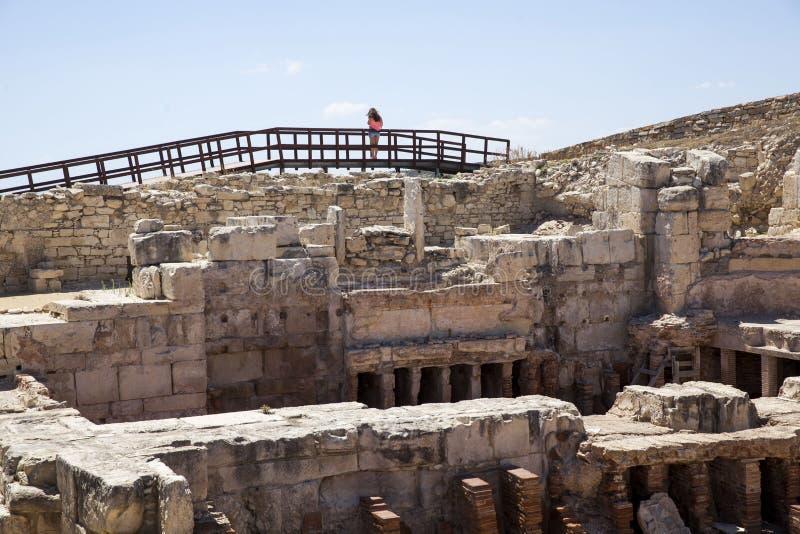 Römisches Theater von Kourion stockfotos