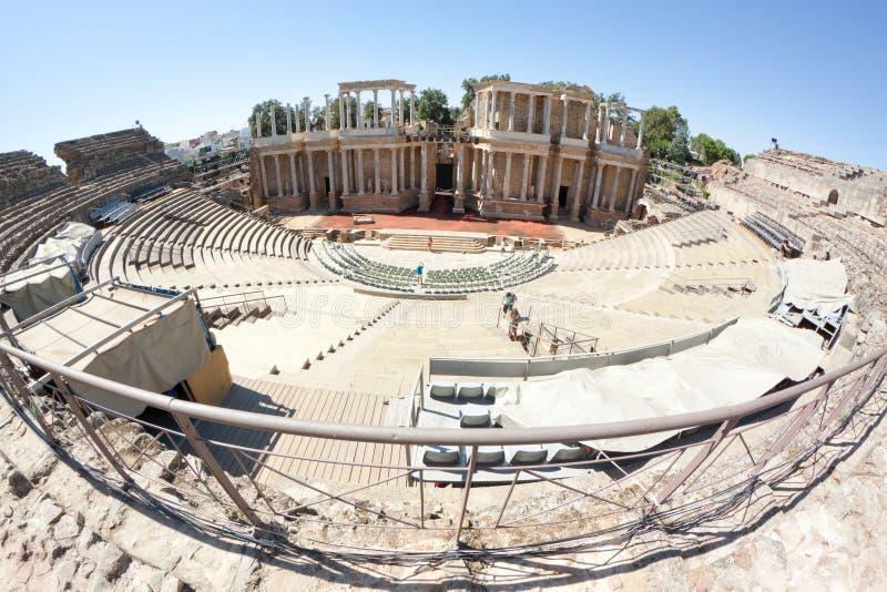 Römisches Theater von Mérida lizenzfreie stockbilder