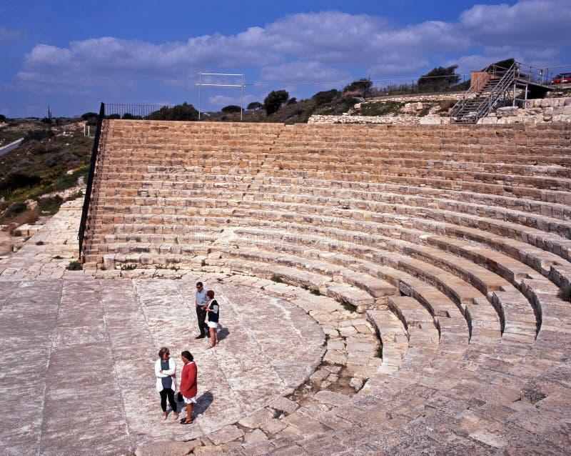 Römisches Theater, Zypern lizenzfreie stockfotos
