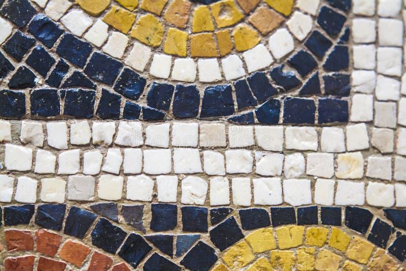 Römisches vielfarbiges Mosaikdetail stockfoto