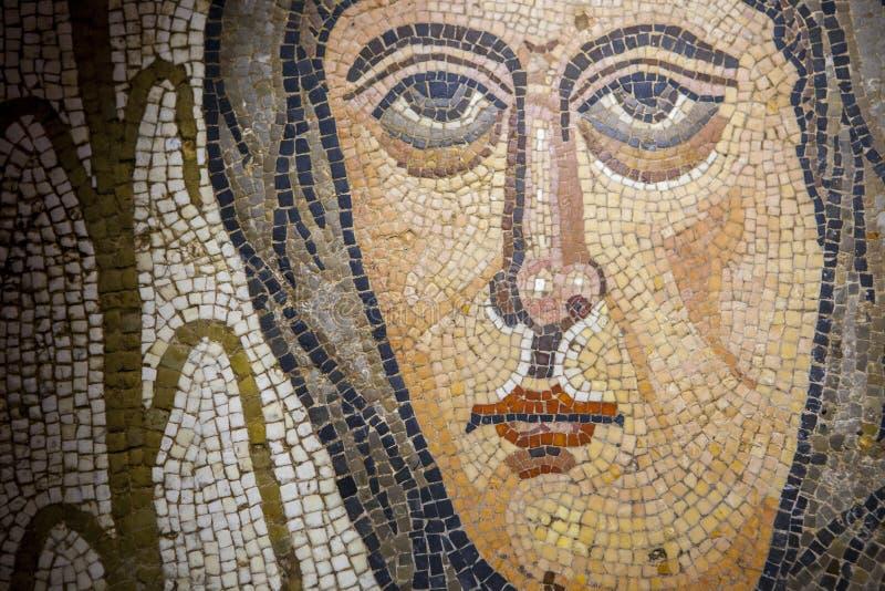 Römisches vielfarbiges Mosaikdetail stockbild