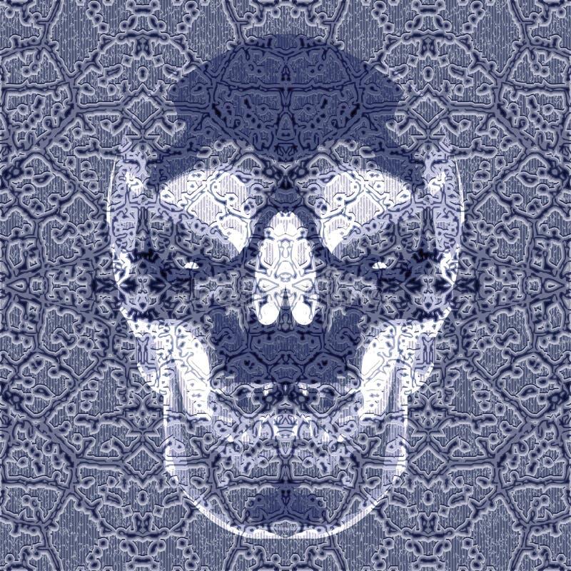 Röntgen effect schedel royalty-vrije illustratie