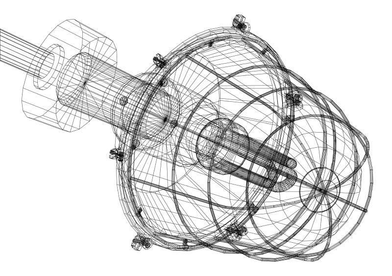 Röntgenstråle av värmeexchangeren royaltyfri illustrationer