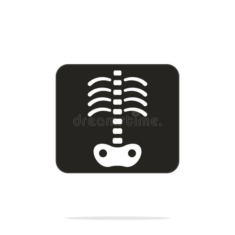 Röntgenstrålevektorsymbol royaltyfri illustrationer