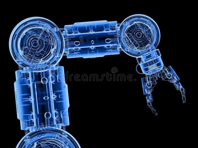Röntgenstraal robotachtig wapen royalty-vrije illustratie