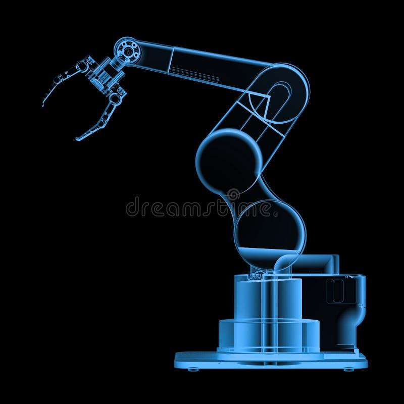 Röntgenstraal robotachtig wapen stock afbeelding