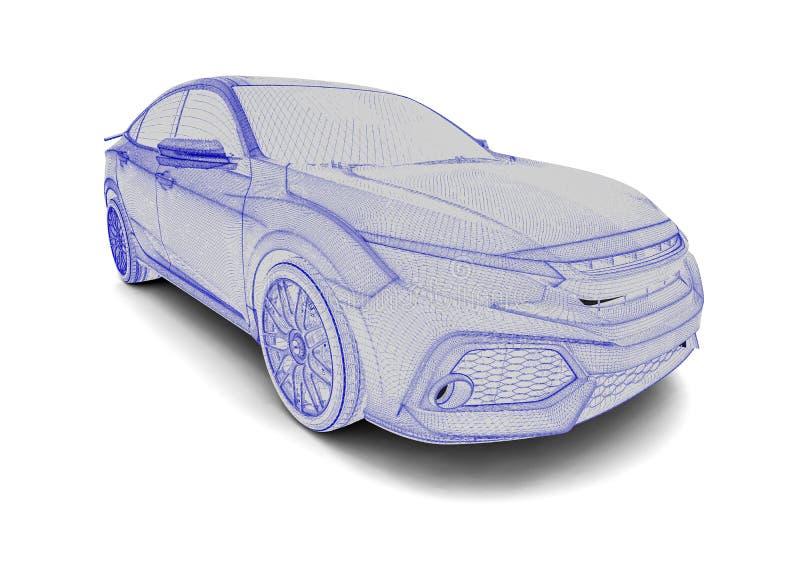 Röntgenstraal van een auto stock illustratie