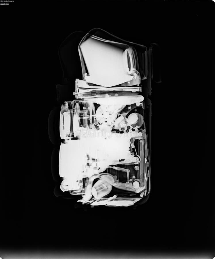 Röntgenstraal van een Tweelinglens Reflexcamera stock afbeelding