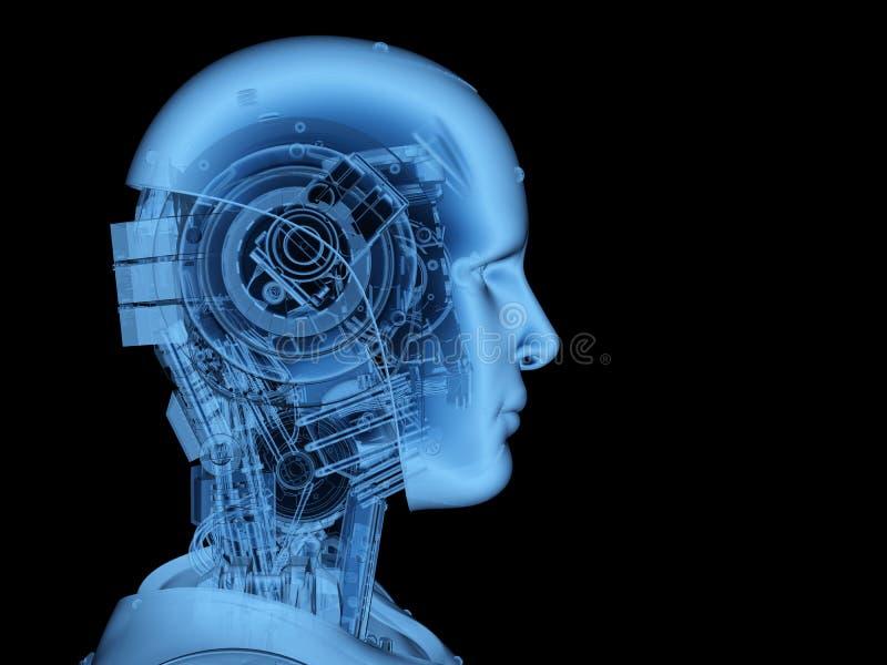 Röntgenstraalrobot of cyborg vector illustratie