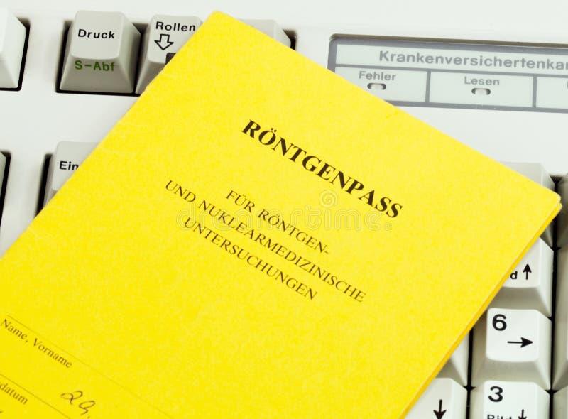 Röntgenstrahl-Ausweis lizenzfreies stockbild
