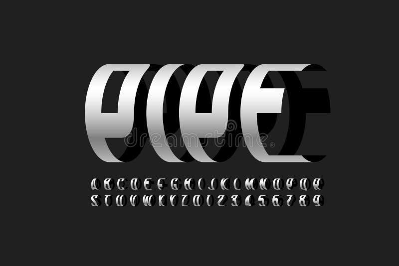 Rör för modern stilsort vektor illustrationer