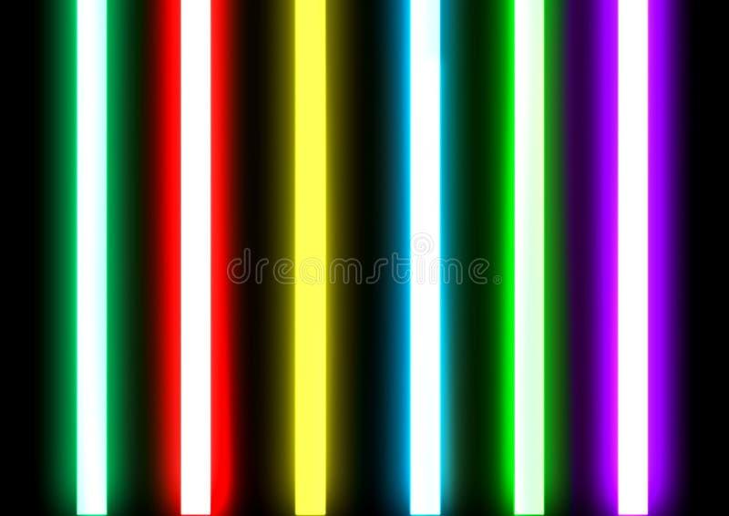 Rör för neonbelysning förseglade exponeringsglas fotografering för bildbyråer