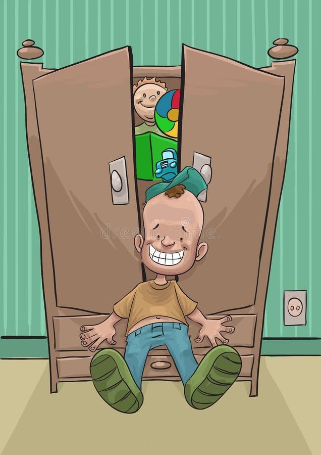 röra garderob stock illustrationer