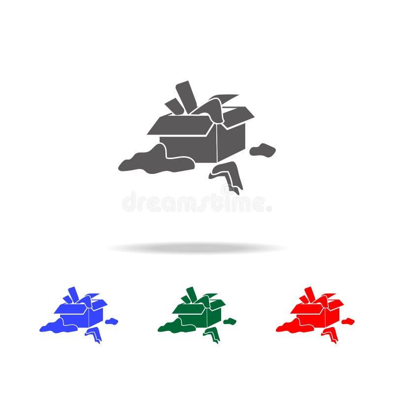 röra med sakersymbolen Beståndsdelar av psykologisk oordning i mång- kulöra symboler Högvärdig kvalitets- symbol för grafisk desi vektor illustrationer