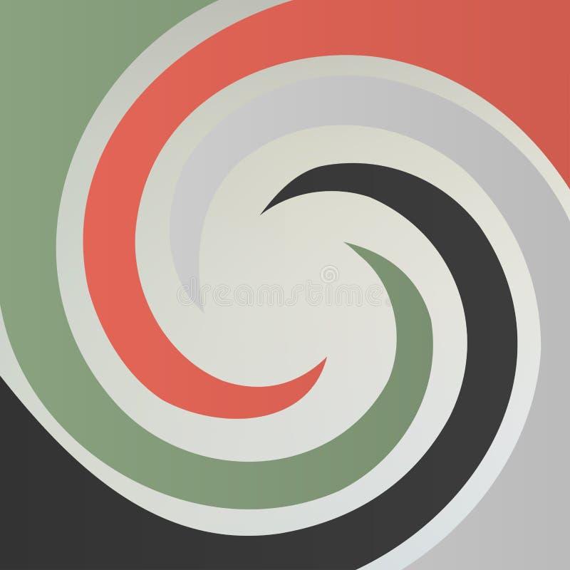 Röra sig i spiral abstrakt bakgrund royaltyfri illustrationer