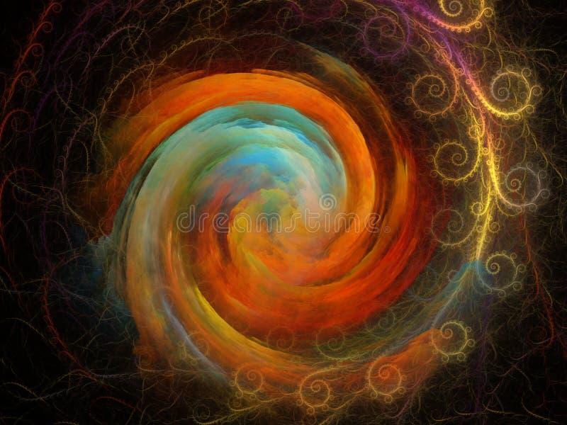 Röra sig i spiral bakgrund royaltyfri illustrationer