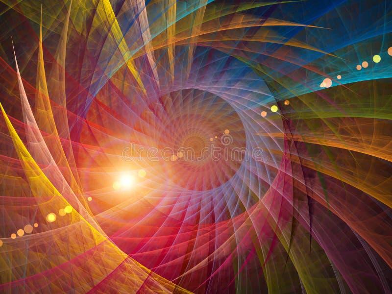 Röra sig i spiral bakgrund vektor illustrationer