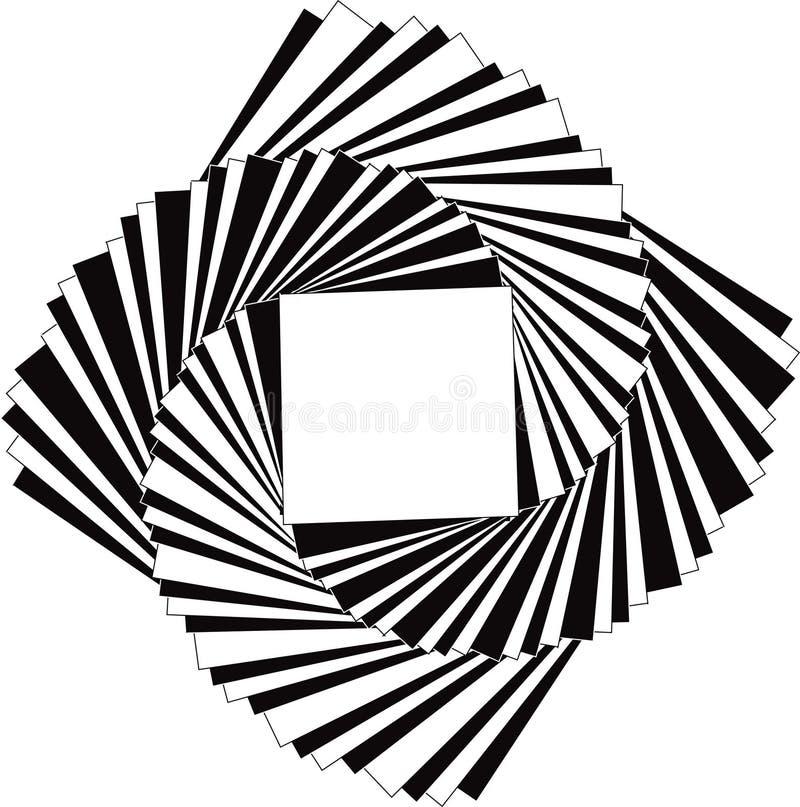 röra sig i spiral fyrkanter royaltyfri illustrationer