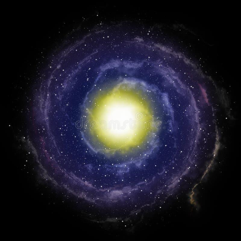 Röra sig i spiral galaxbakgrund vektor illustrationer