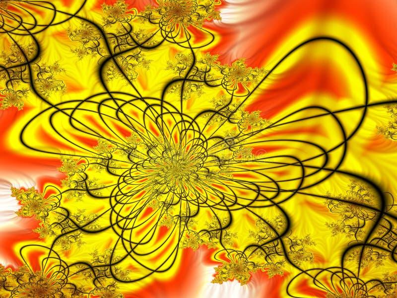 Röra sig i spiral symphonic royaltyfri illustrationer