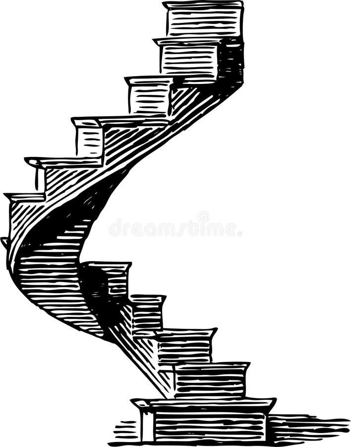 Röra sig i spiral trappuppgången