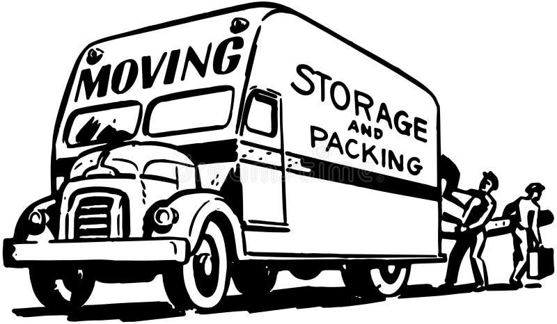 Rörande lagring och emballage vektor illustrationer