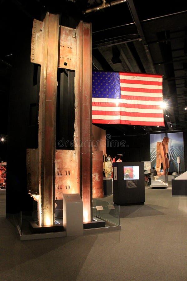 Rörande utställning som täcker händelserna av 9-11, Albanys statliga museum, New York, 2016 royaltyfria foton