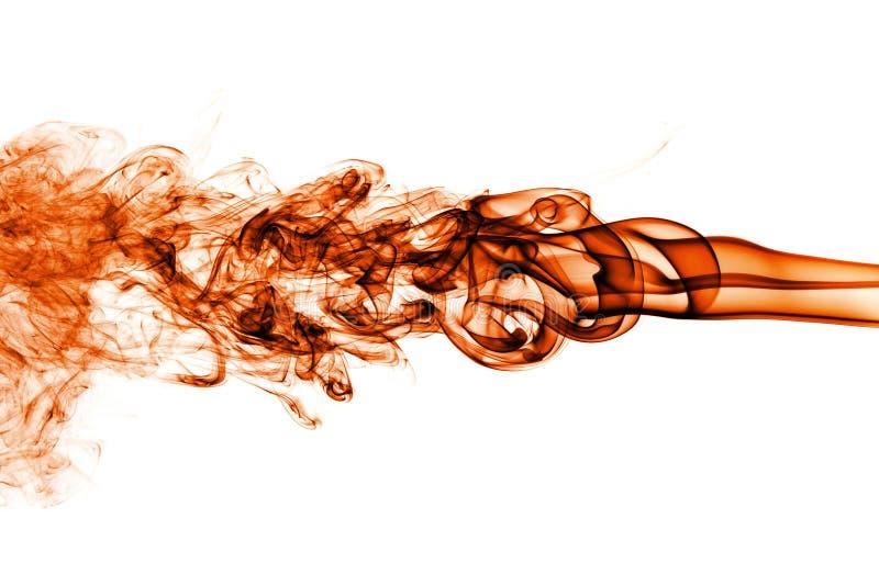 Rörelse av orange rök arkivbilder