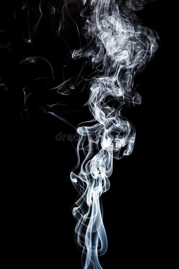 Rörelse av vit rök arkivfoton