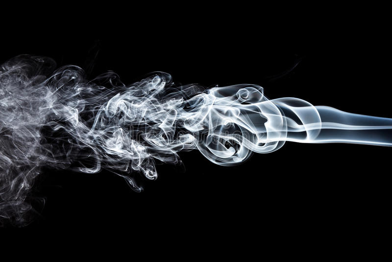 Rörelse av vit rök royaltyfria bilder