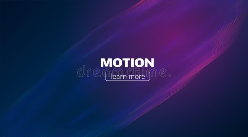 Rörelse fodrar bakgrund Minsta vågflödesbakgrund Impulstekniskt fel royaltyfri illustrationer
