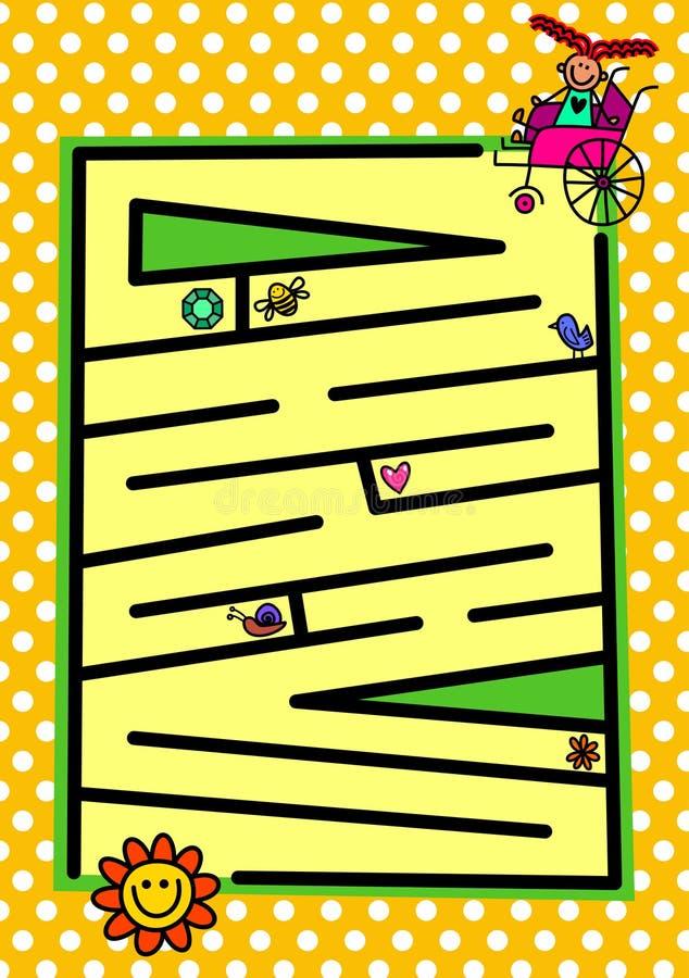 Rörelsehindrad flickaasätarejakt stock illustrationer