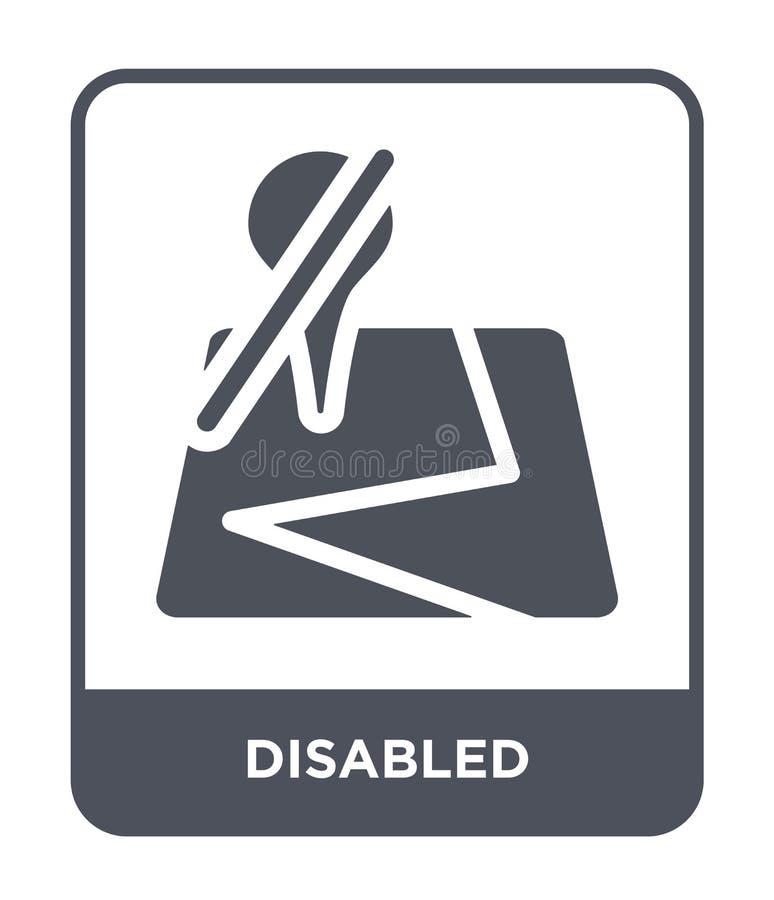 rörelsehindrad symbol i moderiktig designstil Rörelsehindrad symbol som isoleras på vit bakgrund enkel och modern lägenhet för rö royaltyfri illustrationer