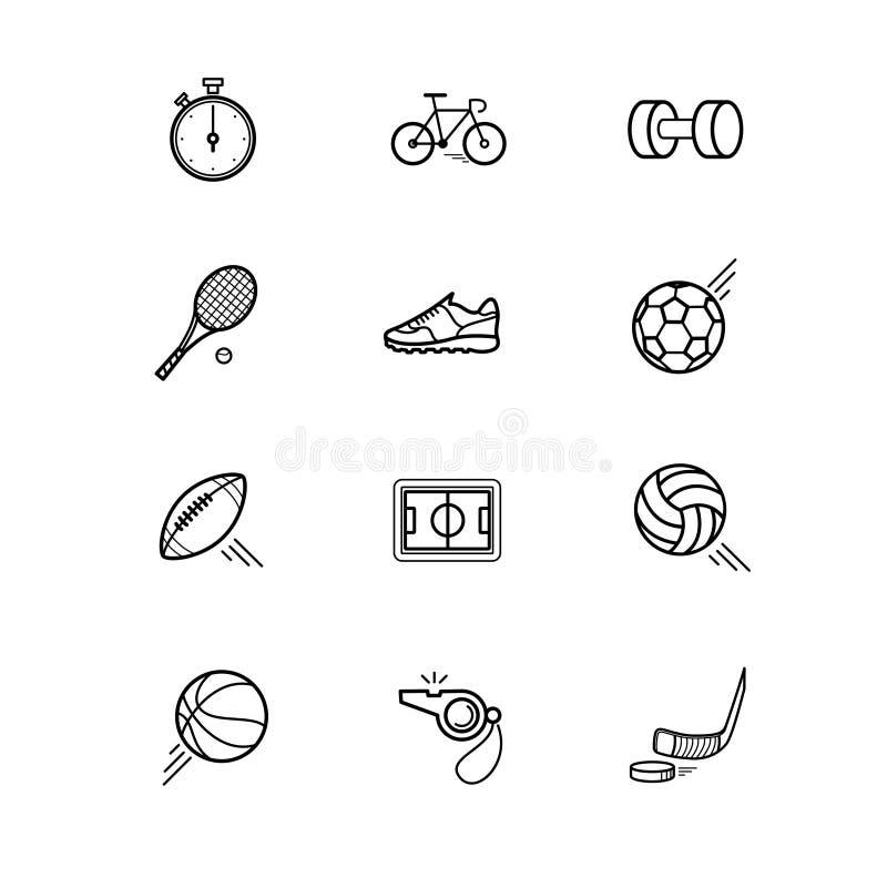 Rörelseserielinje symbol för appsymbolsvektor stock illustrationer