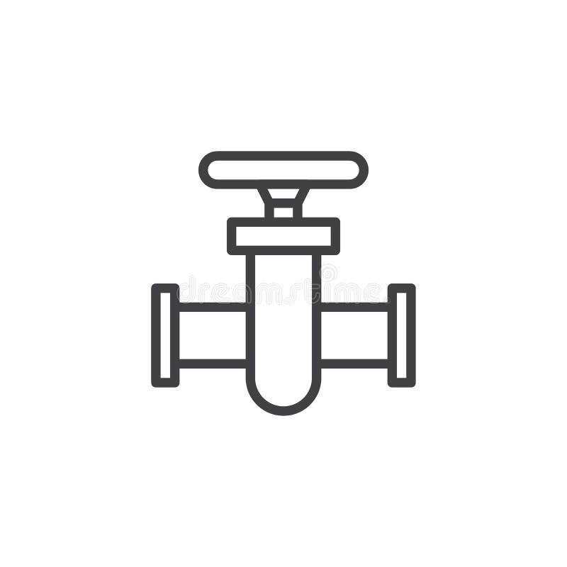 Rörkontaktdonlinje symbol royaltyfri illustrationer