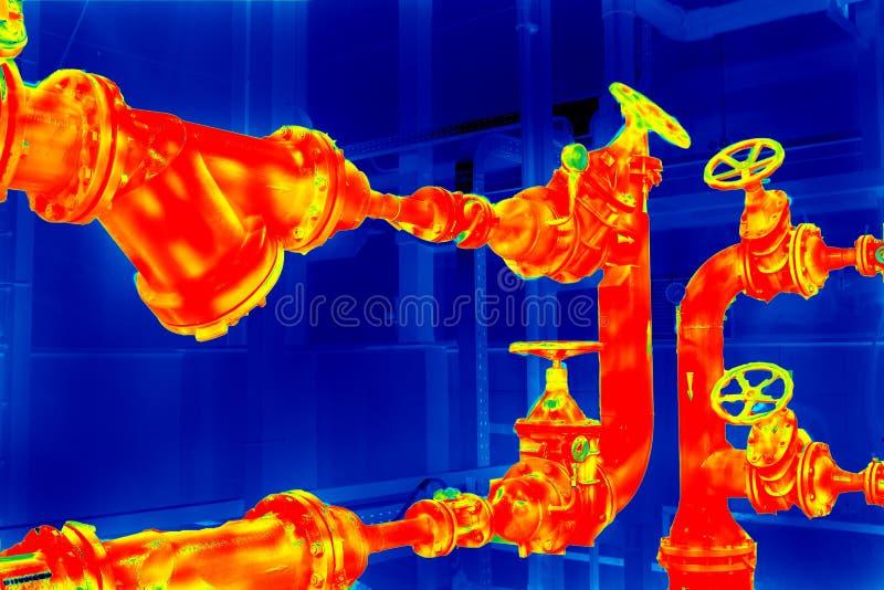 Rörledning för termisk kopiering royaltyfria foton