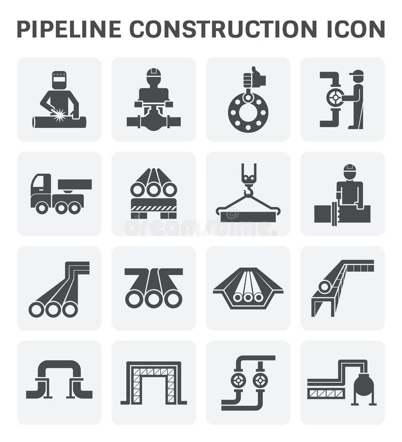 Rörledningkonstruktionssymbol royaltyfri illustrationer