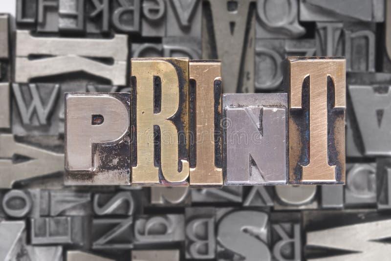 rörlig trycktyp arkivbilder