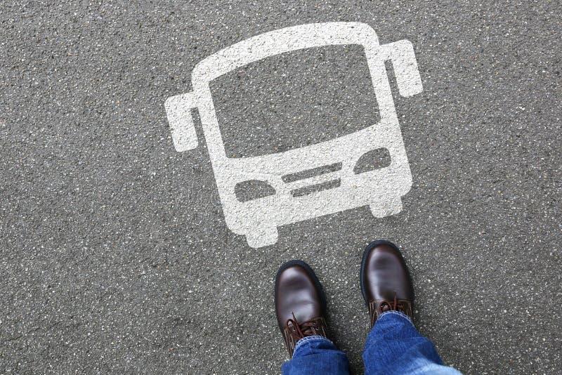 Rörlighet för stad för trafik för lagledare för manfolkbuss royaltyfri fotografi