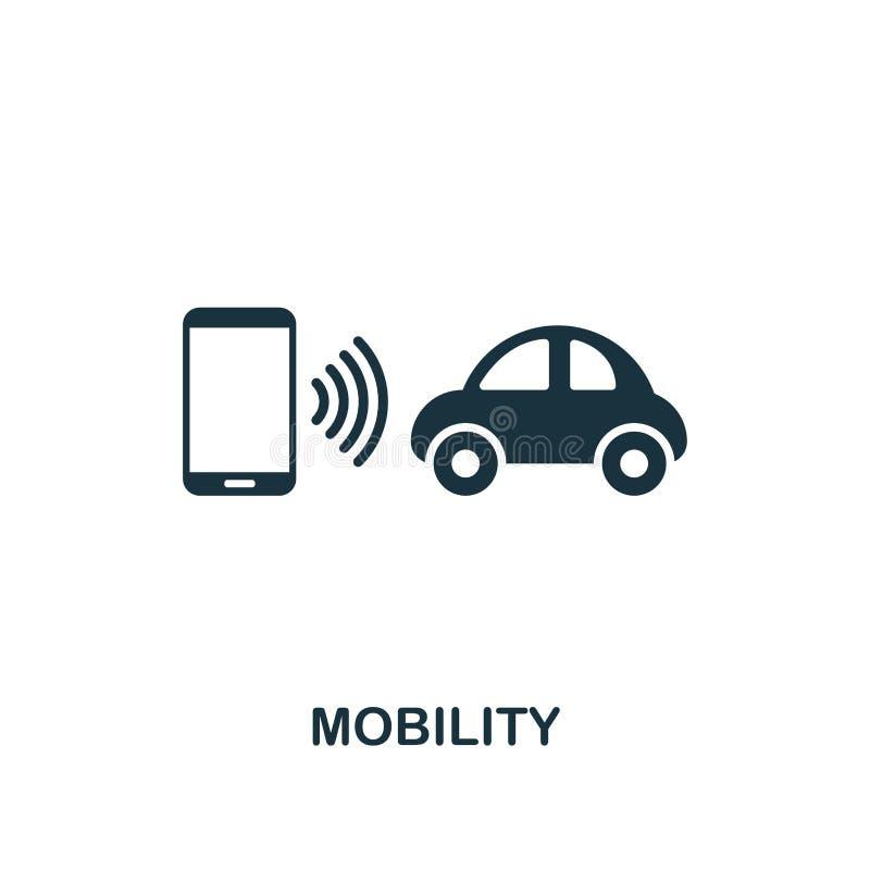 Rörlighetssymbol Högvärdig stildesign från urbanismsymbolssamling UI och UX Perfekt rörlighetssymbol för PIXEL för rengöringsdukd stock illustrationer