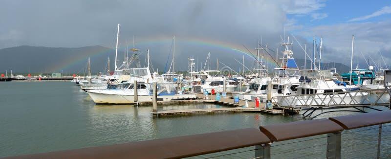 Rösen Marlin Marina I Queensland Australien royaltyfria bilder