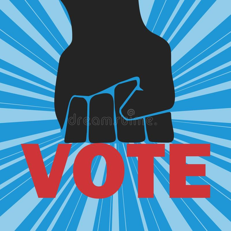 rösta vektor illustrationer